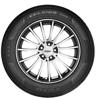 sidewall of Toyo's all weather suv and cuv tire