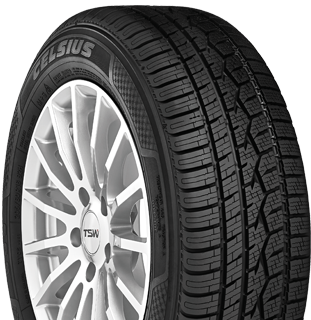 Toyo Celsius all weather tire - right angle photo