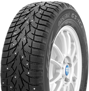 Toyo Observe G3-ice winter tire - photo left angle view - with studs