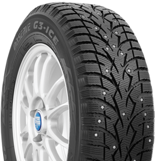 Toyo Observe G3-ice winter tire - photo right angle view - with studs