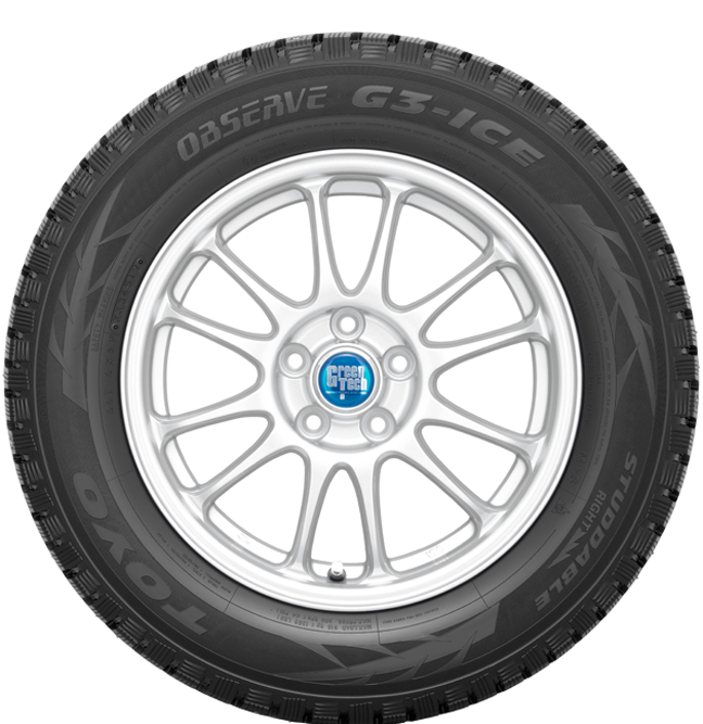 Toyo Observe G3-ice winter tire - photo sidewall view - without studs