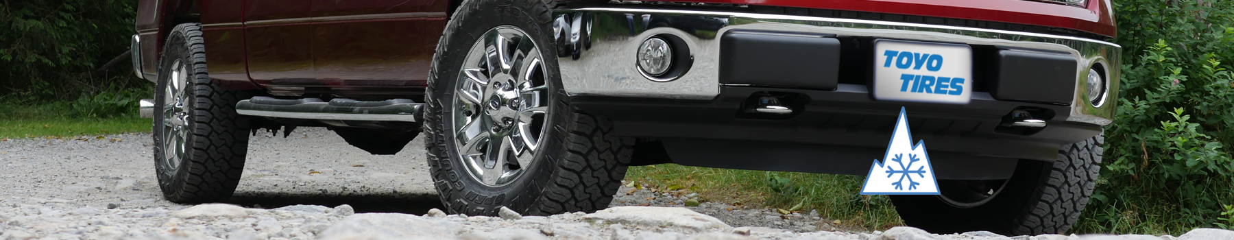 pickup Truck with Toyo's heavy duty all weather light truck tire