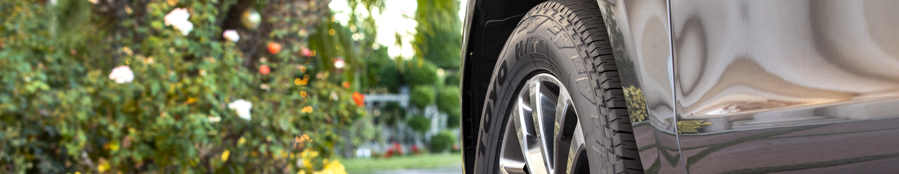 truck with Toyo's light truck highway tire