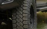 Toyo light truck tire driving through mud
