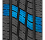 variable pitch tread design on Toyo's all season light truck highway tire