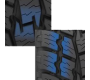 Staggered block edges found on Toyo's all weather light truck tire