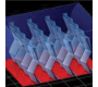 Animation des lamelles à facettes ondulées en 3D