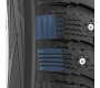 Alternating buttress block design of the studdable optional G3-ice winter tire