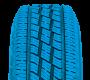 Le pneu de route pour camionnette toutes saisons de Tokyo a un design symétrique