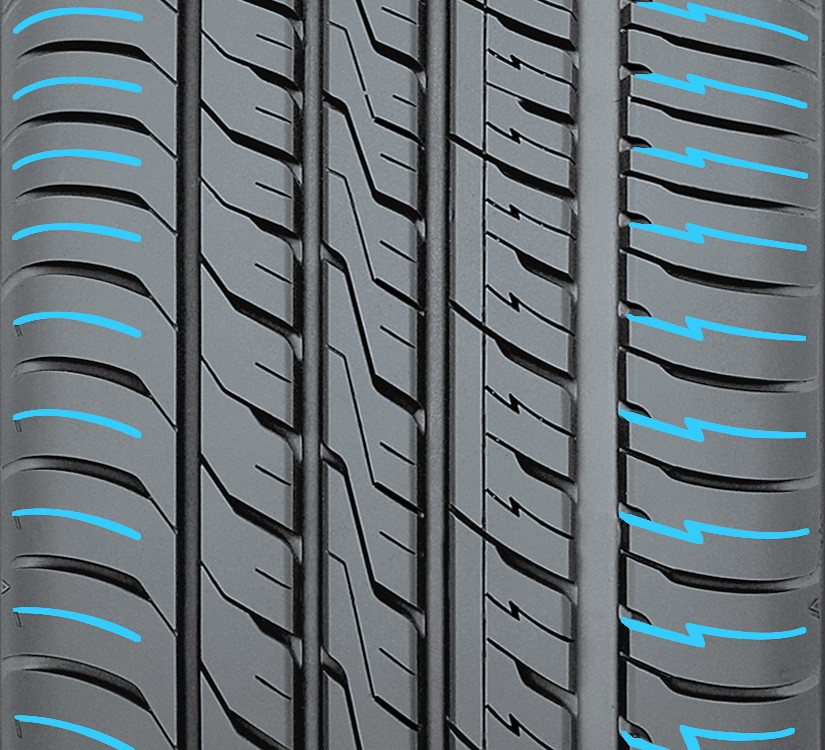 Multi Wave Sipes found in toyo's all season performance tire