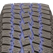Deep tread grooves found on Toyo's all weather pickup truck tire