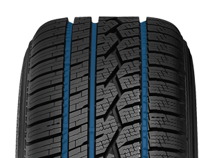 Wide lateral grooves found on Toyo's all weather passenger  tire
