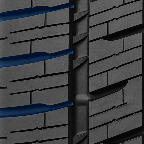 evacuation grooves on Toyo's commercial all weather  year round tire