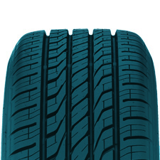 Extensa A/S value all season passenger tire has an asymmetrical tread