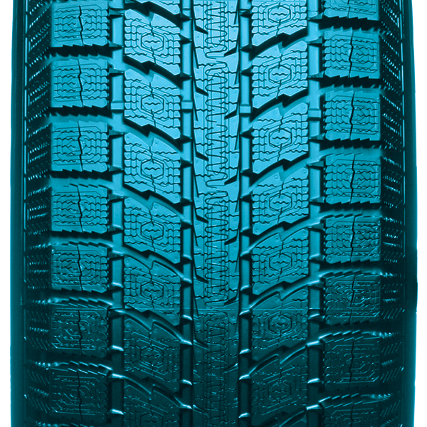 Increased levels of silica and improved dispersion in the winter tire compound