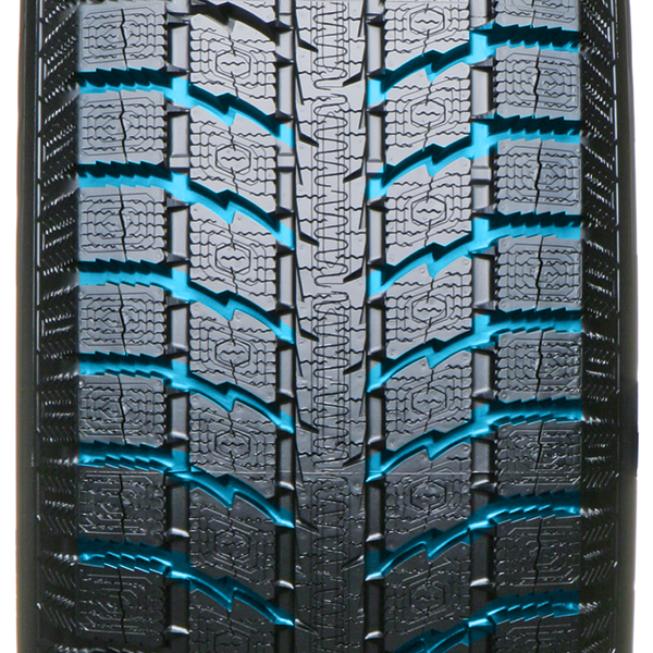 Unidirectional Tread Pattern of the GSi5 winter tire