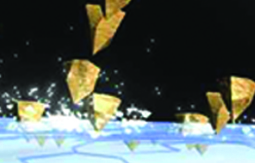 La technologie Microbit dans le composé avec des coquilles de noix