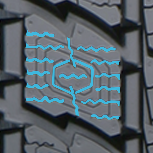 multi-directional spider siping found in the  GSi5 winter tire