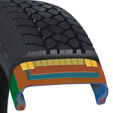 construction of toyo's light truck winter tire
