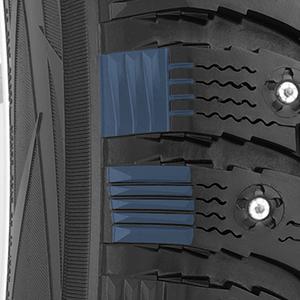 conception des blocs d'épaulement alternants du pneu d'hiver G3-Ice pouvant être cramponné