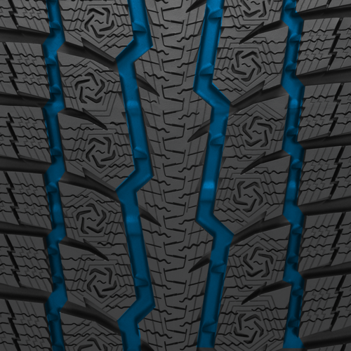 Toyo's performance winter tire has four circumferential grooves
