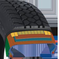 construction du pneu d'hiver pour camionnette de Toyo