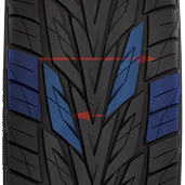 Toyo's performance tire for SUV's and CUV's has an offset tread pattern