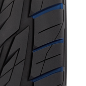 Large evacuation grooves of Toyo's SUV and CUV performance tire