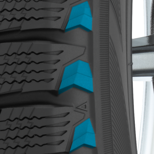 Toyo's GSi-6 performance winter tire has a tapered shoulder wedge