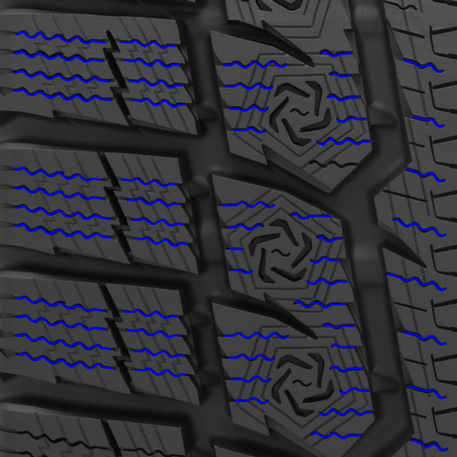 High density sipes found in Toyo's GSi-6 HP studless performance winter tire