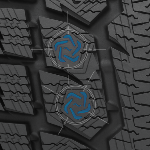 spiral edge sipe on toyo's studless performance winter tire