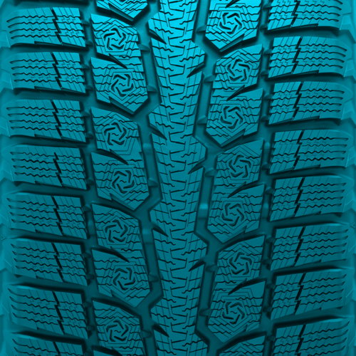 Directional tread pattern of Toyo's GSi-6HP  performance winter tire