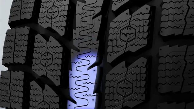 Nervure centrale continue avec lamelles « oscillantes »