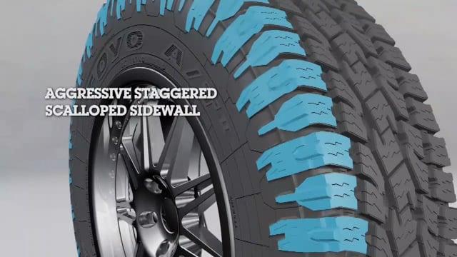 Aggressive Sidewall and Open tread block design