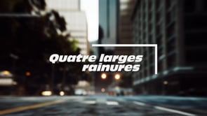 QUATRE LARGES RAINURES CIRCULAIRES