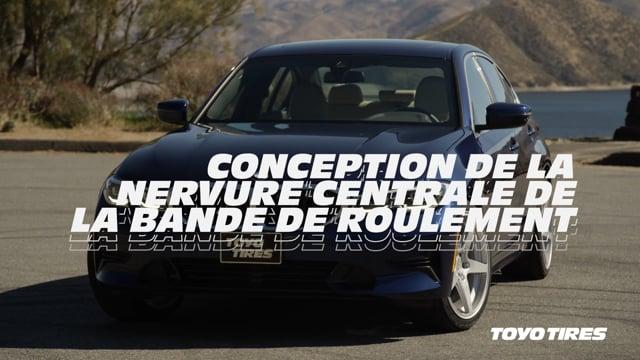 CONCEPTION DE LA NERVURE CENTRALE DE LA BANDE DE ROULEMENT
